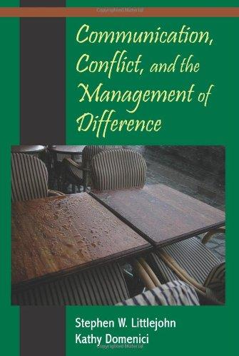 Communication, Conflict, and the Management of Difference