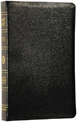 Holy Bible English Standard Version, Black Genuine Leather, Classic Reference Edition