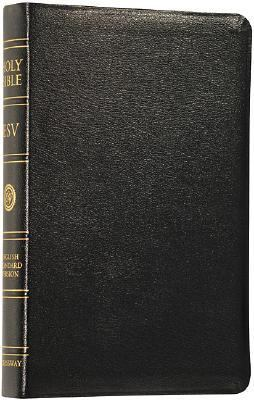 Holy Bible English Standard Version Black, Genuine Leather, Indexed, Boxed