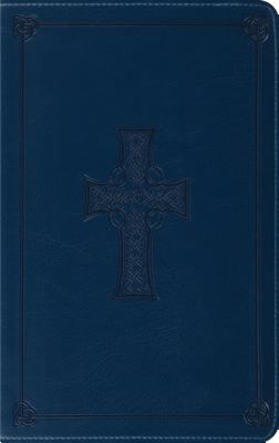 Holy Bible English Standard Version, Royal Blue, Celtic Cross Design, Red Letter. Thinline Trutone Edition