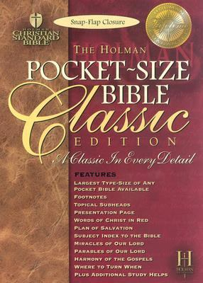 Holy Bible Holman Christian Standard Bible, Black Bonded Leather, Snap Flap