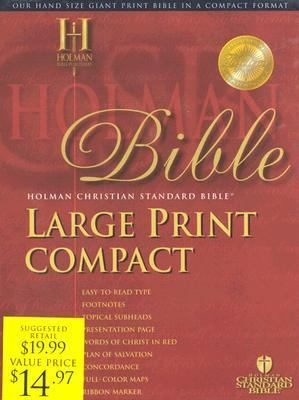 Holy Bible Holman Christian Standard Bible, Black, Bonded Leather, Reference