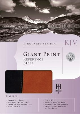 KJV Giant Print Reference Bible (Black/Tan Duotone)