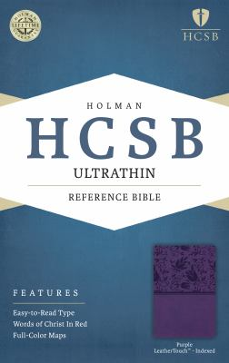 HCSB Ultrathin Reference Bible, Purple LeatherTouch Indexed