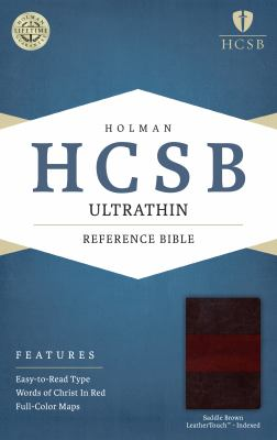 HCSB Ultrathin Reference Bible, Saddle Brown LeatherTouch Indexed
