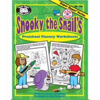 Snooky the Snail's Preschool Fluency Worksheets