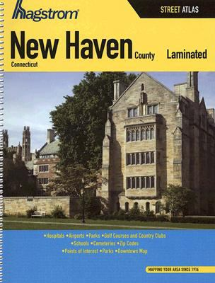 Hagstrom New Haven County, Connecticut Laminated Street Atlas