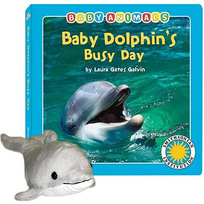 Baby Dolphin's Busy Day: Smithsonian Baby Animals [With Dolphin]
