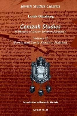 Genizah Studies Geonic And Early Karaitic Halakah