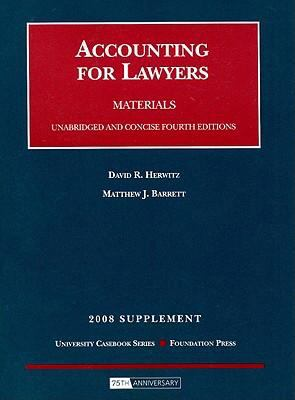 Accounting for Lawyers, 4th Edition, 2008 Supplement