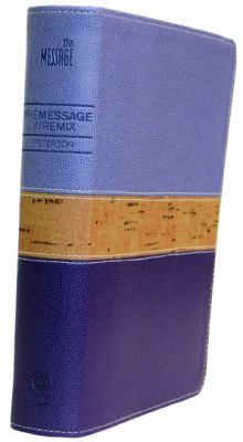 Message//Remix, The Bible in Contemporary Language Leather-Look Purple / Cork Edition