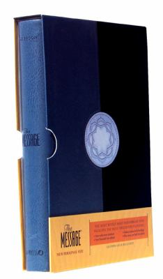 Message Personal Size, Blue/gray, Leather Look, The Bible in Contemporary Language
