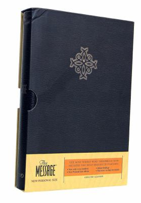 Message The Bible in contemporary Language, Personal Size, Genuine Leather Black