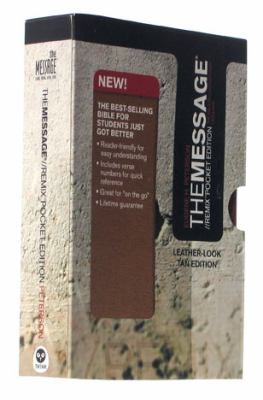 Message Remix The Bible in Contemporary Language, Tan, Leather-look