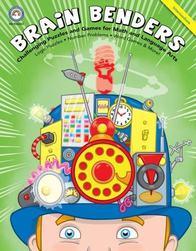 Brain Benders: Challenging Puzzles and Games for Math and Language Arts, Intermediate Level