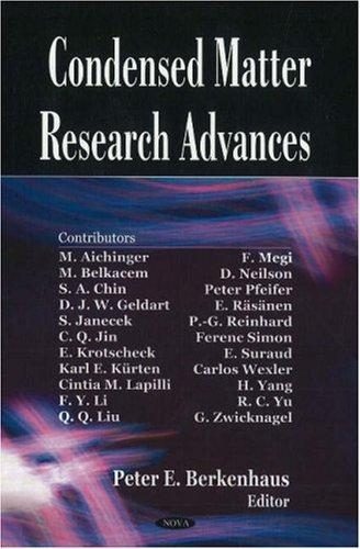 Condensed Matter Research Advances