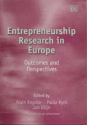 Entrepreneurship Research In Europe Outcomes And Perspectives
