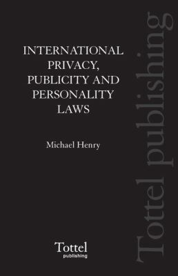 International Privacy, Publicity and Personality Laws
