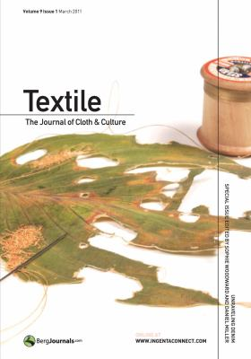 Textile Volume 9 Issue 1: The Journal of Cloth and Culture (Textile: Journal of Cloth & Culture)