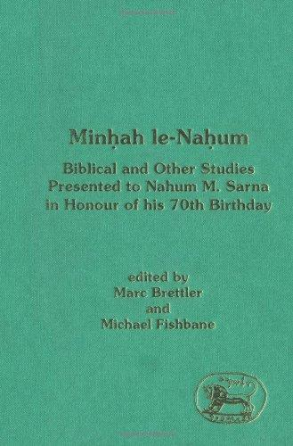 Minhah Le-Nahum (JSOT Supplement)
