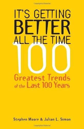 It's Getting Better All the Time: 100 Greatest Trends of the Last 100 years