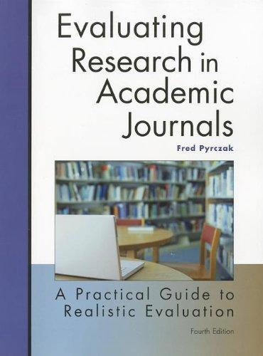 book cover: evaluating research in academic journals