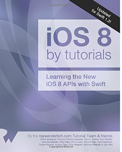 iOS 8 by Tutorials: Updated for Swift 1.2: Learning the new iOS 8 APIs with Swift