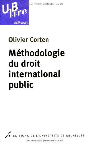 Mthodologie du droit international public