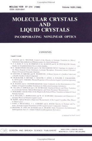 Critical Phenomena Liquid Crys (Molecular crystals & liquid crystals incorporating nonlinear optics)