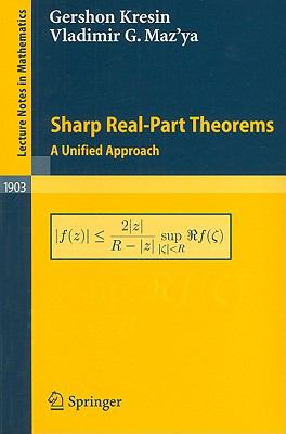 Sharp Real-Part Theorems A Unified Approach