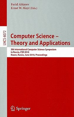 Computer Science -- Theory and Applications : 5th International Computer Science Symposium in Russia, CSR 2010, Kazan, Russia, June 16-20, 2010, Proceedings