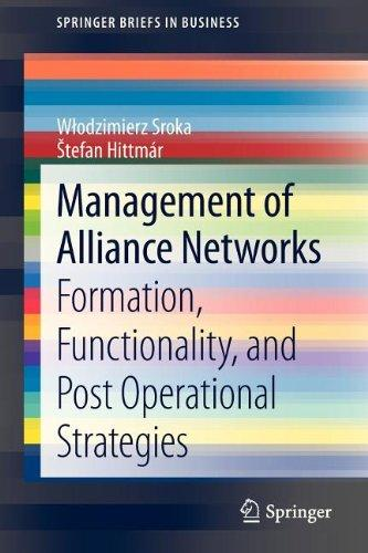 Management of Alliance Networks: Formation, Functionality, and Post Operational Strategies (SpringerBriefs in Business)