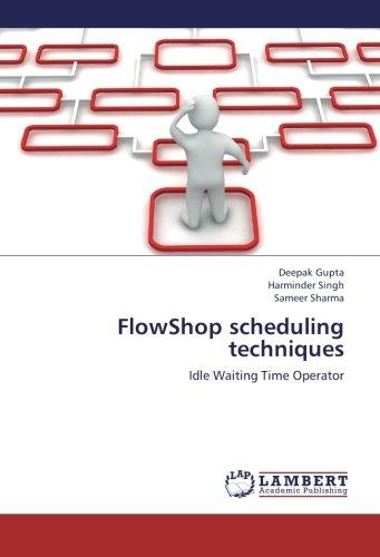 FlowShop scheduling techniques: Idle Waiting Time Operator