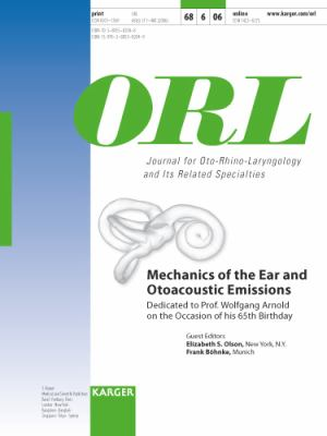 Mechanics of the Ear and Otoacoustic Emissions : Dedicated to Prof. Wolfgang Arnold on the Occasion of his 65th Birthday: Special Issue: ORL 2006, Vol. 68, No. 6