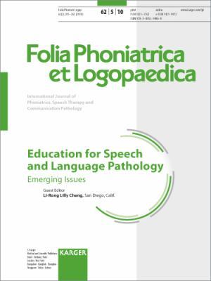 Education for Speech and Language Pathology : Emerging Issues