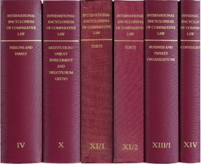 International Encyclopedia of Comparative Law Volumes