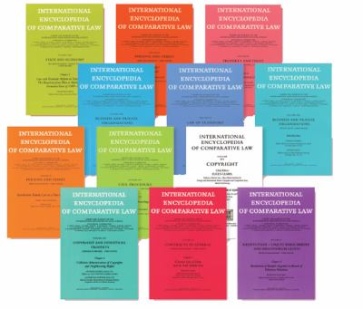 International Encyclopedia of Comparative Law Instalment 19