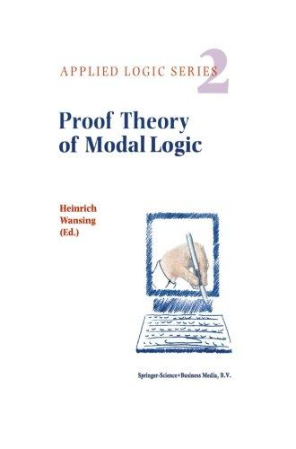 Proof Theory of Modal Logic (Applied Logic Series) (Volume 2)