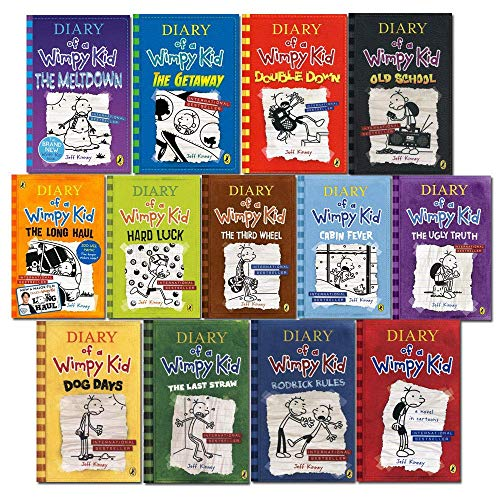 Diary of A Wimpy Kid Book 1 - 13 Complete Collection 13 Books Set (The Getaway [Hardcover], The Meltdown[Hardcover])