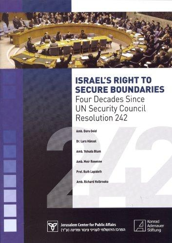 Israel's Right to Secure Boundaries: Four Decades Since UN Security Council Resolution 242