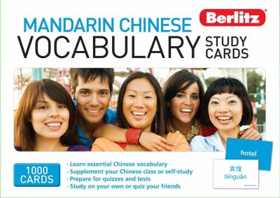 Berlitz Mandarin Chinese Vocabulary Study Cards