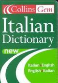 Collins Gem Italian Dictionary Italian/English English/Italian
