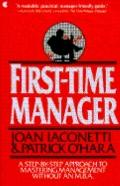 First-Time Manager - Joan Iaconetti - Paperback - 1st Collier Books ed