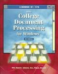College Document Processing for Windows: Lessons 61-120