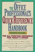 Office Professional's Quick Reference Handbook - Sheryl L. Lindsell-Roberts - Paperback
