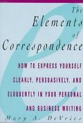 The Elements of Correspondence - Mary Ann De Vries - Hardcover