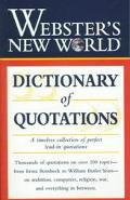 Webster's New World Dictionary of Quotations - Auriel Douglas - Paperback