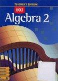 Algebra 2 Teacher's Edition [Hardcover]