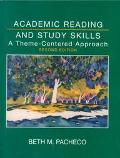 Academic Reading and Study Skills A Theme-Centered Approach