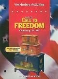 Call to Freedom: Beginning-1914: Vocabulary Activities
